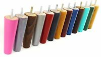 4x WOODEN FURNITURE LEGS REPLACEMENT FEET - SOFAS, CHAIRS, 135mm HIGH M8(8mm)