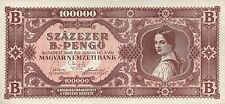 Ungarn / Hungary 100.000 B.-Pengö 1946 Pick 133 (1)