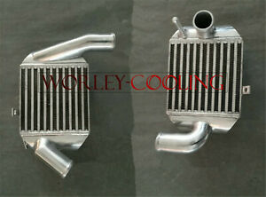 """Pair Aluminum INTERCOOLER FOR AUDI A4 B5 S4 RS4 A6 C5 2.7T BI-TURBO 2"""" In/outlet"""