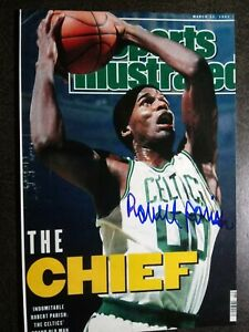 ROBERT PARISH Hand Signed Autograph 4X6 Photo -  LARRY BIRD - NBA BOSTON CELTICS