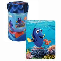 Disney Finding Dory & Nemo Blue Fleece Throw Blanket Kids Boys Girls Movie Gift