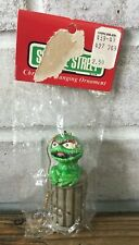 Vintage Gorham Oscar the Grouch Sesame Street Ornament Korea New in Package