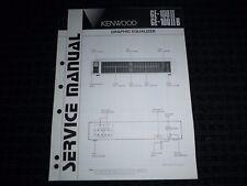 Vtg Original Kenwood Service Manual Model GE-100II GE-100IIB Graphic Equalizer