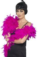 WOMENS 20s FUCHSIA DELUXE FEATHER BOA LADIES 1920's GATSBY FLAPPER FASHION SCARF