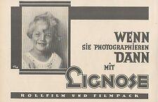 Y4940 Rollfilm und Filmpack LIGNOSE - Pubblicità d'epoca - 1927 Old advertising