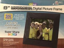 """GiiNii 8"""" MULTIMEDIA Digital Picture Frame Photos Music Video 128 MB No Cord"""