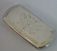 Georgian Solid Silver Snuff Box