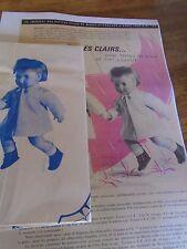 """T3 PATRON POUPEE  MICHEL"""" M & TRAVAUX"""" IMPERMEABLE CHIC 1965"""