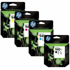 Autentico Originale HP 940XL Set BCMY C4906 C4907 C4908 Cartuccia di Inchiostro Nuovo in Scatola x4