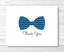 Chevron Bow Tie Thank You Card Printable