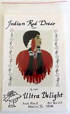 "VTG 1989 NIP APPLIQUE PATTERN ""INDIAN RED DRESS"" ULTRA DELIGHT LEOTA BLACK"