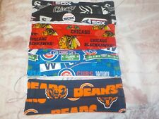 Chicago Cubs Bears Hawks Sox Lot of 4 Face Mask ! New Designs!