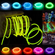 EL Wire Battery Powered Flexible LED Neon Light Strip Tube Rope+Controller 45A3