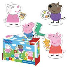 Trefl 2/3/4/5 Piece Baby Kids Infant Unisex Peppa Pig 4 Shaped Jigsaw Puzzles