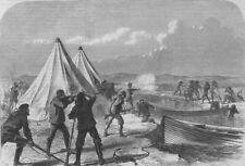 TIERRA DEL FUEGO. HMS Nassau surveying party attacked by natives, print, 1867