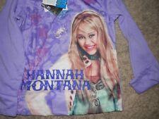 Hannah Montana Pajamas Sleepwear 2pc Set Girls Size 7-8 Purple Capris NWT