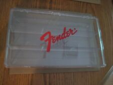 Vintage Fender Red Logo 3 Compartments Guitar Pick Box Store Display Case NOS