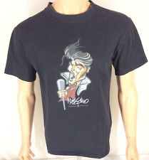 Vtg Mossimo T-shirt Black Small Limited Edition Elvis Distressed 90s
