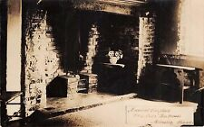 MINSTER IN THANET KENT UK ANCIENT FIREPLACE~OLD OAKE TEA HSE REAL PHOTO POSTCARD
