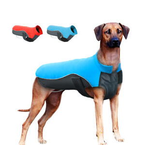 Waterproof Dog Winter Clothes Reflective Dog Warm Fleece Coat Jacket S-5XL Boxer