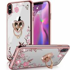 iPhone Ten Xs Max Hybrid Case Ultra Thin Crystal Series Slim Luxury Ring Cover
