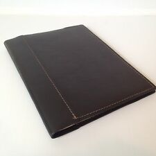 RUSTICO Large Composition Notebooks Leather Composition Machine Stitched Black