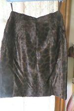 VINTAGE ~ ANTHEA CRAWFORD ~ Faux Fur Animal Print ~ SKIRT * Size 14 *