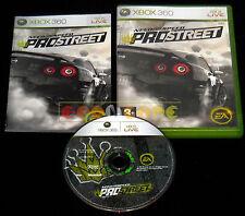 NEED FOR SPEED PROSTREET Xbox 360 Versione Italiana 1ª Edizione ••••• COMPLETO