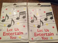 8 Pack Contempo Party Invitation Cards~Let Us Entertain You~Traditional!