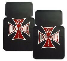 MOON EQUIPPED RUBBER FLOOR MATS MOONEYES FORD  IRON CROSS