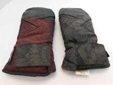 *WATERGUARD LADIES GRAY & MAROON WINTER MITTENS POLYESTER LINING SIZE LARGE