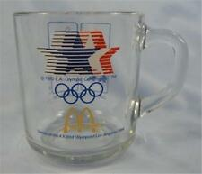 McDonalds 23rd Olympics Mug 1984 L A Olympics XXIII Clear Glass Decals (O)