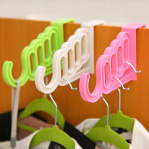 Home Over Door Hooks Bag Clothes Storage Racks Coat Hanger Hanging Organizer UK