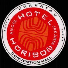HORISON Hotel old luggage label JAKARTA Indonesia