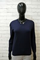 Maglione Tommy Hilfiger Felpa Donna Taglia L Slim Pullover Sweater Cardigan Blu