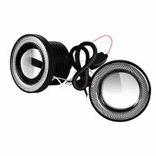 "2x High Power Car 3.0"" Projector LED Fog Light Lamps w/ COB Halo Angel Eye Rings"