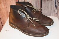 Clarks Brown Leather 8 M Men's Ankle Boots