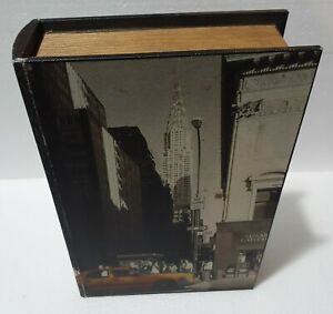 Vintage Wooden Simulation Book Storage NEW YORK THEME