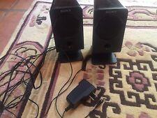 "sony mini speakers SRS-A3 black 3-1/4"" by 7"""
