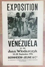 JUAN WLODARCZYK 1976 AFFICHE ORIGINALE EXPOSITION VENEZUELA PARIS