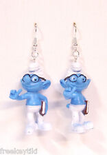 New Classic Original Brainy Smurf The Smurfs Figures Figurines Dangle Earrings