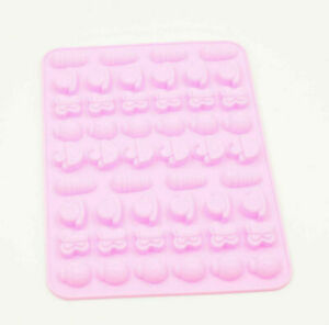 50 Cavity Silicone Bugs Mould Tray Ice Soap Chocolate Cake Insects Ladybirds