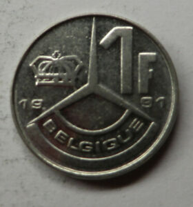 Belgium Franc 1991 Nickel Plated Iron KM#170 UNC