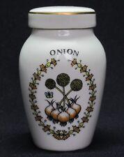 Franklin Mint Porcelain Spice Jars, Gloria Concepts Inc. - Onion