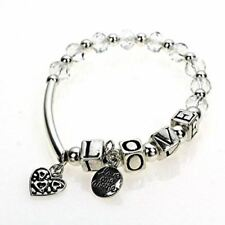 Silver Love Inspirational Beaded Message Bracelet Gingers Jewels
