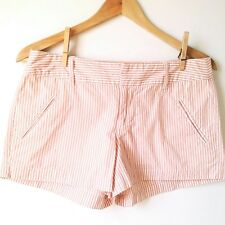 LC Lauren Conrad Size 4 Womens Striped Pink / White Shorts Hot Pants Pockets A5