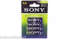 4 batterie SONY AA stilo alkaline 1,5 Volt AM3L-B4D