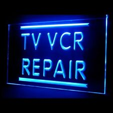 140027 TV VCR Repair Television Interactive Affordable Reorder LED Light Sign