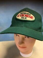 e98bfe89346 Vintage Genesee 12 Horse Ale Snapback Trucker Hat Men s Green Wool Blend