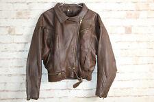 Brown Leather Jacket size Uk 12